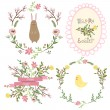 Set of vector easter frames and elements — Stock Photo #65446823