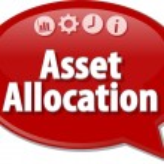 Asset Allocation  Business term speech bubble illustration — Stock Photo #80269042