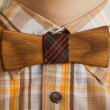 Wooden bow tie festive attire — Stock Photo #63668463