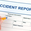 Accident report application form — Stock Photo #61202111