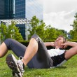 Urban sports - fitness in the city — Stock Photo #71515511