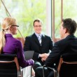 Job Interview with HR and applicant — Stock Photo #72765725