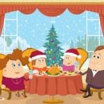 Family at home celebrating Christmas — Stock Photo #56462177