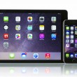 Apple Space Gray iPhone 6 and iPad Air 2 Wi-Fi and Cellular — Stock Photo #57845789