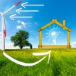 Ecologic House - Wind Energy Concept — Stock Photo #60535101