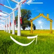 Ecologic House - Wind Energy Concept — Stock Photo #60535361