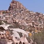 Homes on a Hillside in Cappadocia Turkey — Stock Photo #66227287