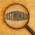 Testimonials word — Stock Photo #56143669