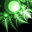 Green toxic fractal plant, digital artwork for creative graphic design — Stock Photo #59511571