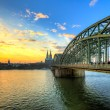 Cityscape of Cologne from the Rhine river — Stock Photo #60248357