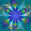 Beautiful multicolored fractal flower. Collection - frosty patte — Stockfoto #67029067