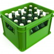 Crate full with beer bottles — Stock Photo #68198573