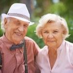 Senior couple in smart casual — Stock Photo #55488203