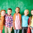 Group of pupils with backpacks — Stock Photo #63888831