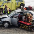 Car accident caused by bad signalisation at Intersection in Long — Stock Photo #67124423