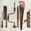 Composition of old tools for wood — Stock Photo #59154563