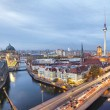 Evening in Berlin, aerial view — Stock Photo #57888843