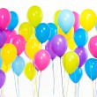 Bright bunch of colorful balloons background — Stock Photo #65238435