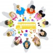 Group of Children and School Concept — Stock Photo #52454451