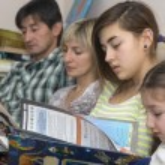 Reading family — Stock Photo #61290489
