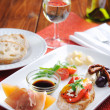 Appetising canape platter — Stock Photo #65459513