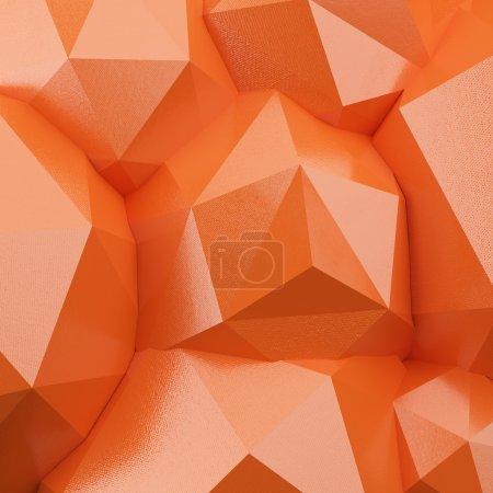 抽象的 3d 多边形背景