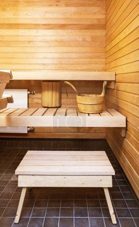 木制桑拿室内