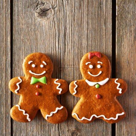 圣诞节自制姜饼夫妇