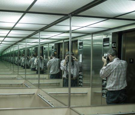 拍摄的镜子