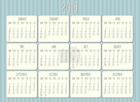 2016 年每月的日历_高清图片_邑石网