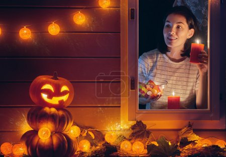 Woman is preparing treats for kids