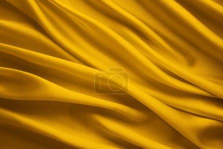 真丝织物背景,黄色缎布波床单