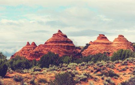 在犹他州的砂岩地貌