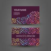 丰富多彩的虚线的业务或礼品卡设计