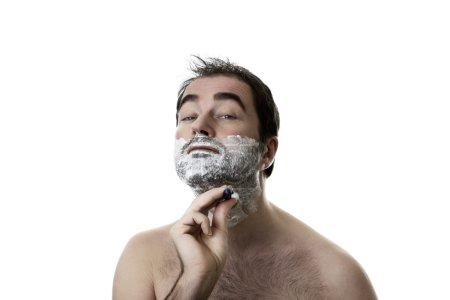 剃须的男人_高清图片_邑石网