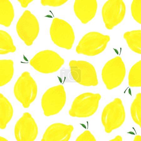 柠檬卡通手绘背景