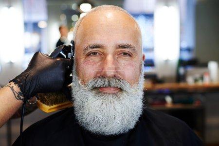 在理发店英俊高级大胡子_高清图片_邑石网