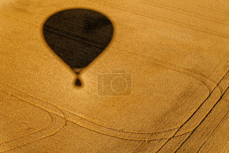 Shadow of the balloon in the fields