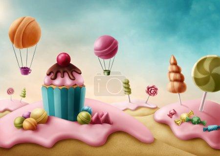 Fantasy Candyland Illustration