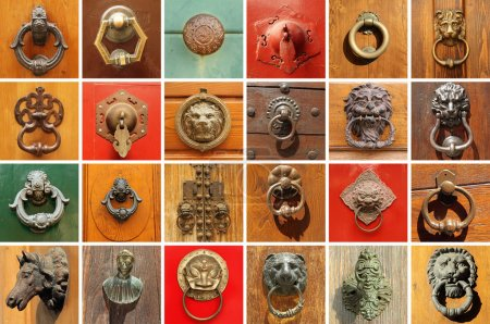 Stylish old door knockers