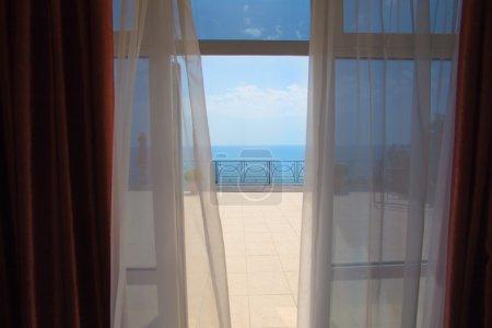 从酒店房间的海景