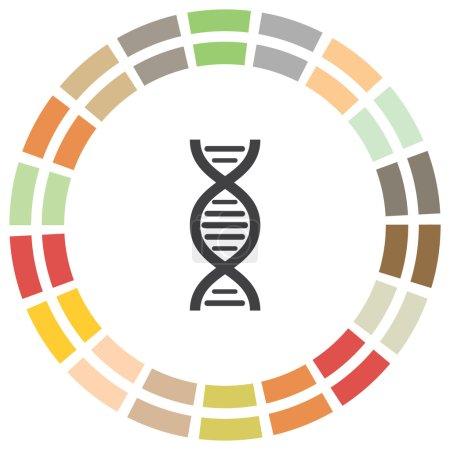 遗传结构的标志.生物科学符号