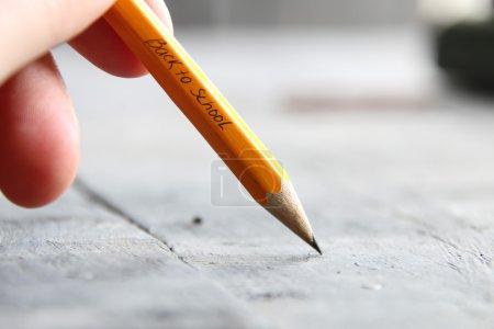 特写手写作-回到学校-用铅笔写的