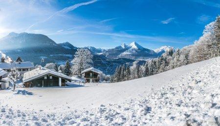 在巴伐利亚的阿尔卑斯山,贝,德国田园风景