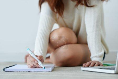 女人做笔记