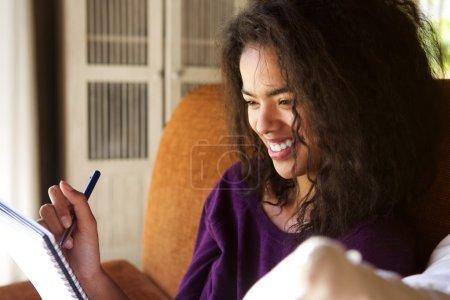 微笑写在日记里的女学生