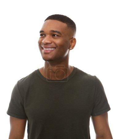 快乐的非洲裔美国人,在绿色 t 恤_高清图片_邑石网