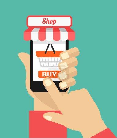 Vector flat e commerce illustration icon design