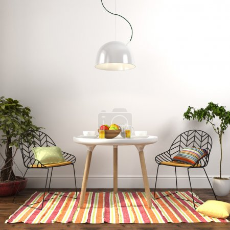 Colorful dining room interior