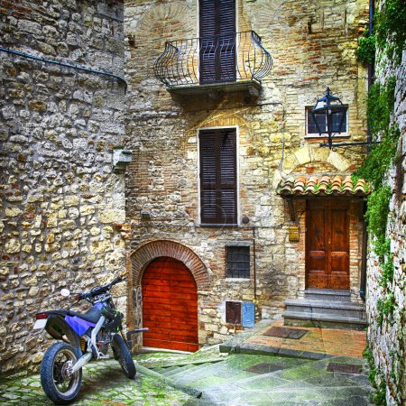 Charming streets of medieval towns of Italy
